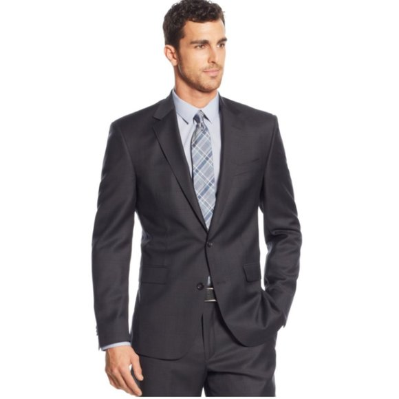 Kenneth Cole Other - Kenneth Cole Dark Charcoal Slim Fit Blazer 46R